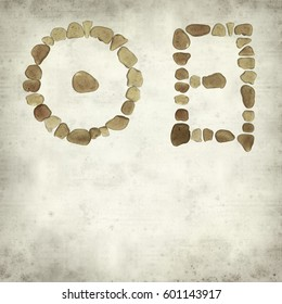 textured old paper background with Chinese character ri - sun, historic and current  form of sea glass mosaic