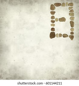 textured old paper background with Chinese character ri - sun, current  form , sea glass mosaic