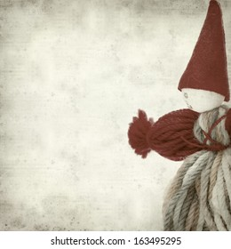 textured old paper background with clown decoration
