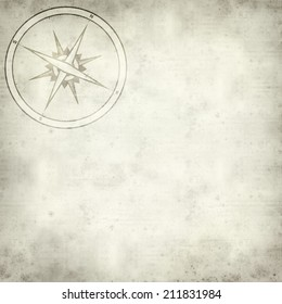 textured old paper background with compass symbol