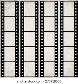 Textured old paper background with films strips - Vintage film stripe abstract background