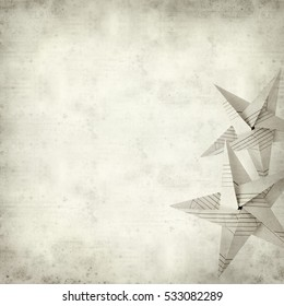 textured old paper background with folded paper star