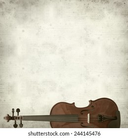 textured old paper background with violin