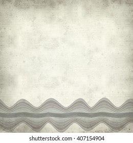 textured old paper background with waves illustration - Shutterstock ID 407154904