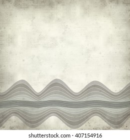 textured old paper background with waves illustration - Shutterstock ID 407154916