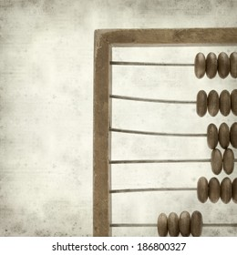 textured old paper background  with wooded abacus