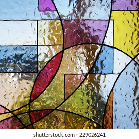 Textured paint on glass/Stained Glass