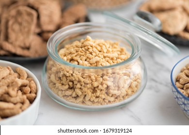 Textured Soy Protein in a jar