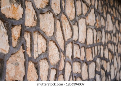 Textured Stone wall filled