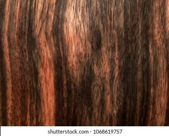 Textured wood surface of ebony Makassar