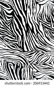 textured of zebra style fabric