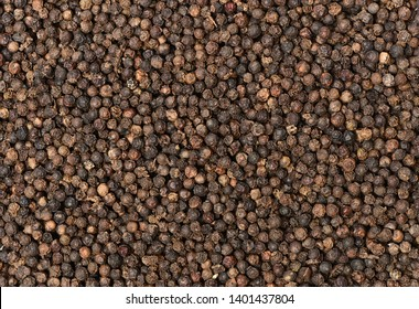 the textures background of black peppercorns