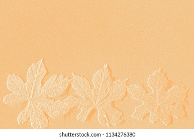Textures of embossed objects on colorful background
