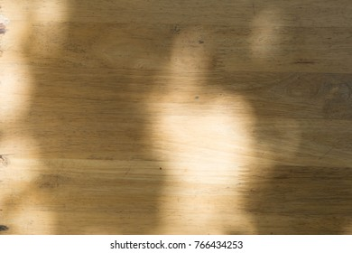 Textures Shadow tree on wooden table