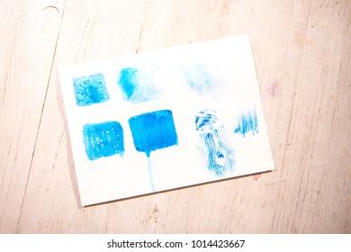 Textures in watercolors
