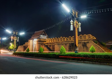 Tha Pratu Thanang Gate of old city in Lamphun,Thailand.