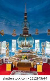 THA TON, THAILAND - NOVEMBER 03, 2014: Wat Tha Ton interior. It is a buddhist temple in Chiang Mai Province, Thailand