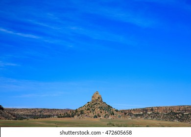 Thaba Bosiu is the mountain stronghold from where King Moeshoeshoe established and ruled over the Kingdom of Lesotho in the 19th Century