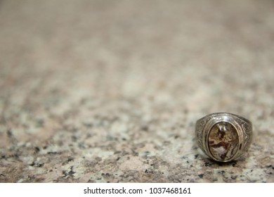 Thai amulet quartz silver carve ring