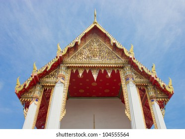 Thai Ancient Architecture Outstanding In The Sky