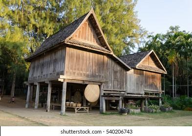 Thai ancient style house at northeast region Thailand
