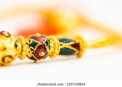 Thai art of gold jewelry design : luxury Sukhothai Vintage woman gold bracelets with 96.5% gold karat