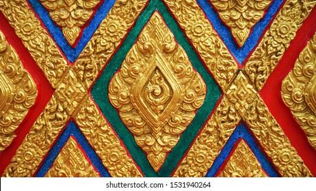 Thai art Thai line on a temple wall
