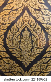 Thai art on temple door