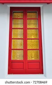 Thai art wooden window