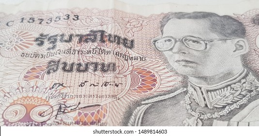 Thai Baht Banknote on a White Background