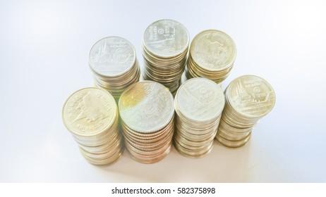 Thai Baht Coins background