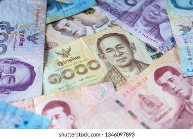 Thai banknotes money background