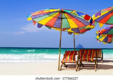 Thai beach and umbrella