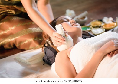 thai beauty spa oil massage and natural herbal for women at resort thai style hone in Thailand spa beauty for women concept