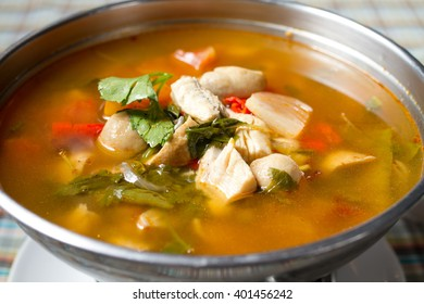 The thai Best food spicy fish soup.