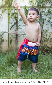 """Thai boxing-letters on the pants not Contains potential trademark or copyright infringement but Thai language is name """"muay thai or Thai boxing"""""""