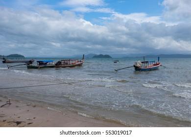 Thai or Burmese fishing boat in the Andaman sea