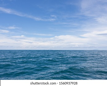 Thai coastal navy blue and calm Andaman sea with clear summer skies