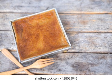 Thai coconut custard squares, Khanom Maw Kaeng, Thai tradition dessert