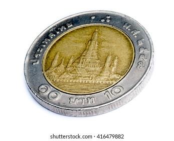 thai coin value 10 baht