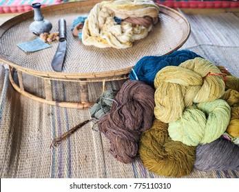 thai cotton for handmade weaving