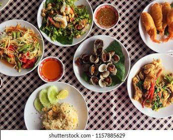 Thai cuisine foods , food travel concept