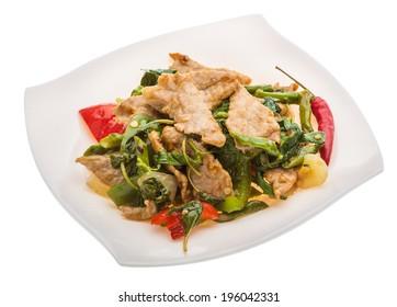 Thai cuisine - Pork with vegetables