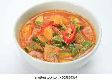 Thai cuisine, Red Curry with coconut milk.