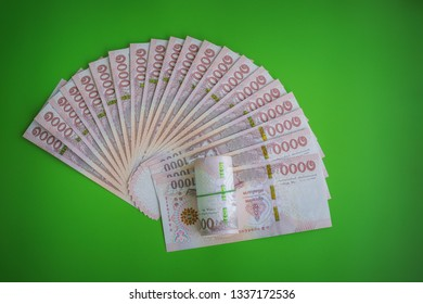 Thai Currency 1000 Baht,Thai money banknote one thousand thai baht on green background. Business and financial concept