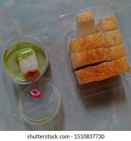 Thai Custard Bread, Toast custard.