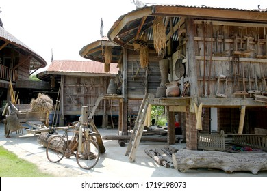 Thai Dam Ethnic Museum House at Ban Na Paa Nard village, there is the learning center of Thai Dam culture. Located in Chiang Khan District, Loei province, Thailand.