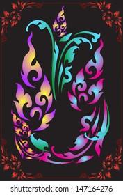 thai design abstract