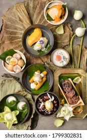 Thai dessert background, Thai cooking