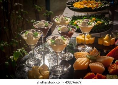 thai dessert  for buffet line in wedding party.
